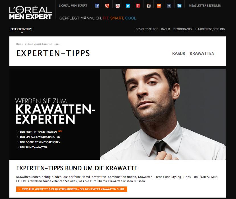L'Oréal MEN EXPERT Expertentipps