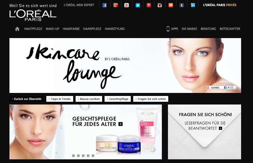 L'Oréal Paris Skincare lounge