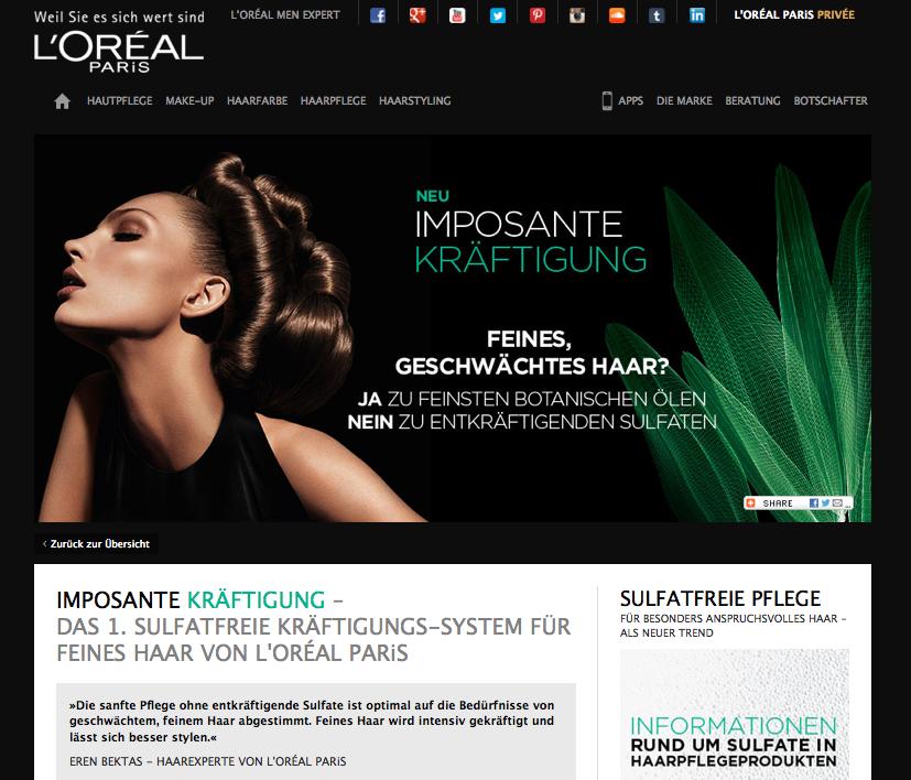 Produkt-Special L'Oréal Paris Imposante Kräftigung
