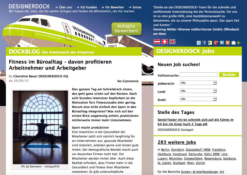 Freie Social Media Managerin Charoline Bauer für Designerdock