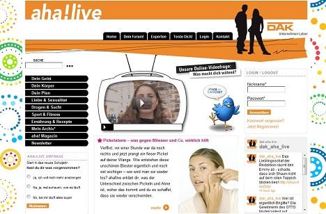 aha!live - Health-Portal der DAK für Jugendliche